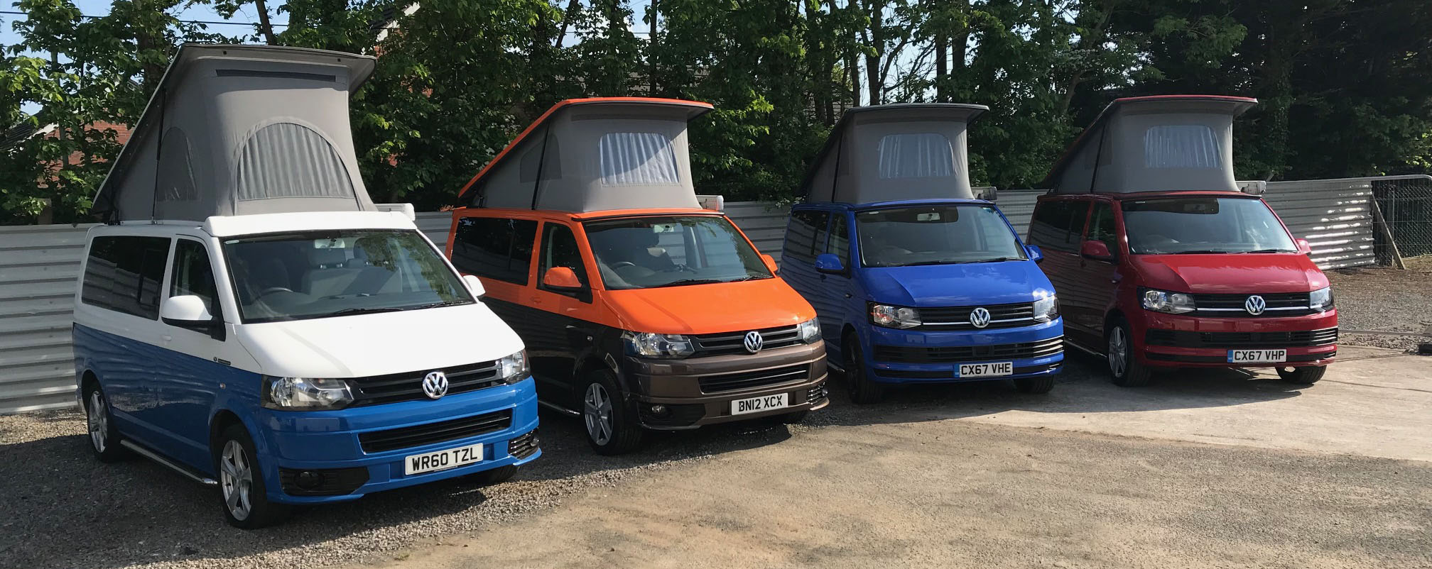 Fleet of VW T6 Carbon Neutral Campervans